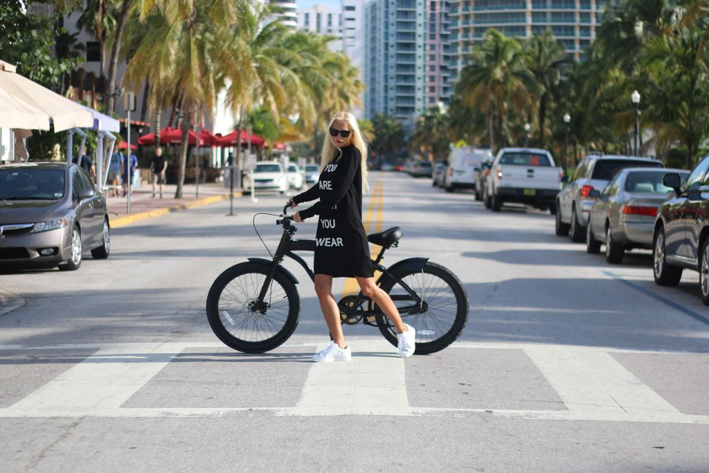 girl with ebike