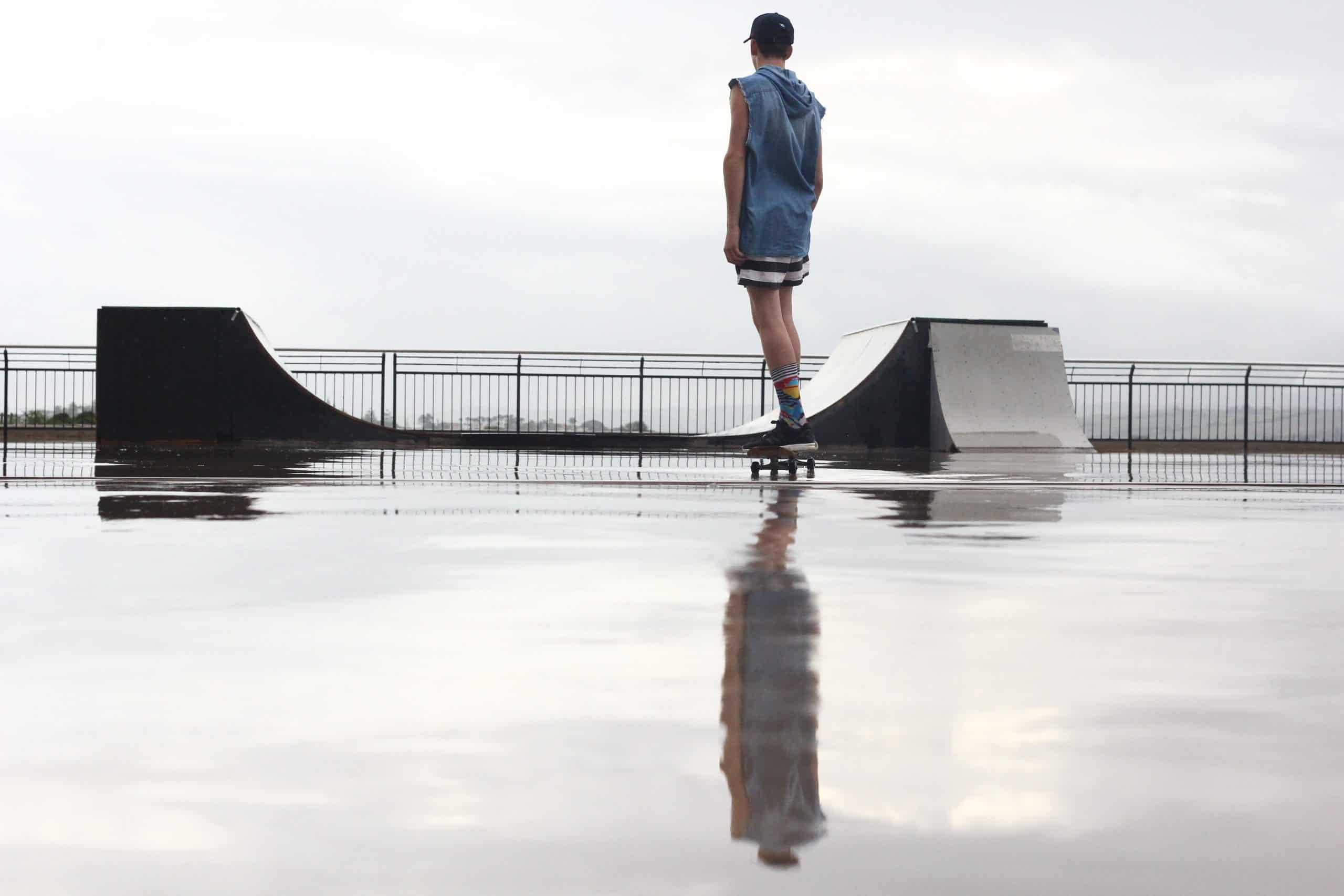 can you skateboard in the rain