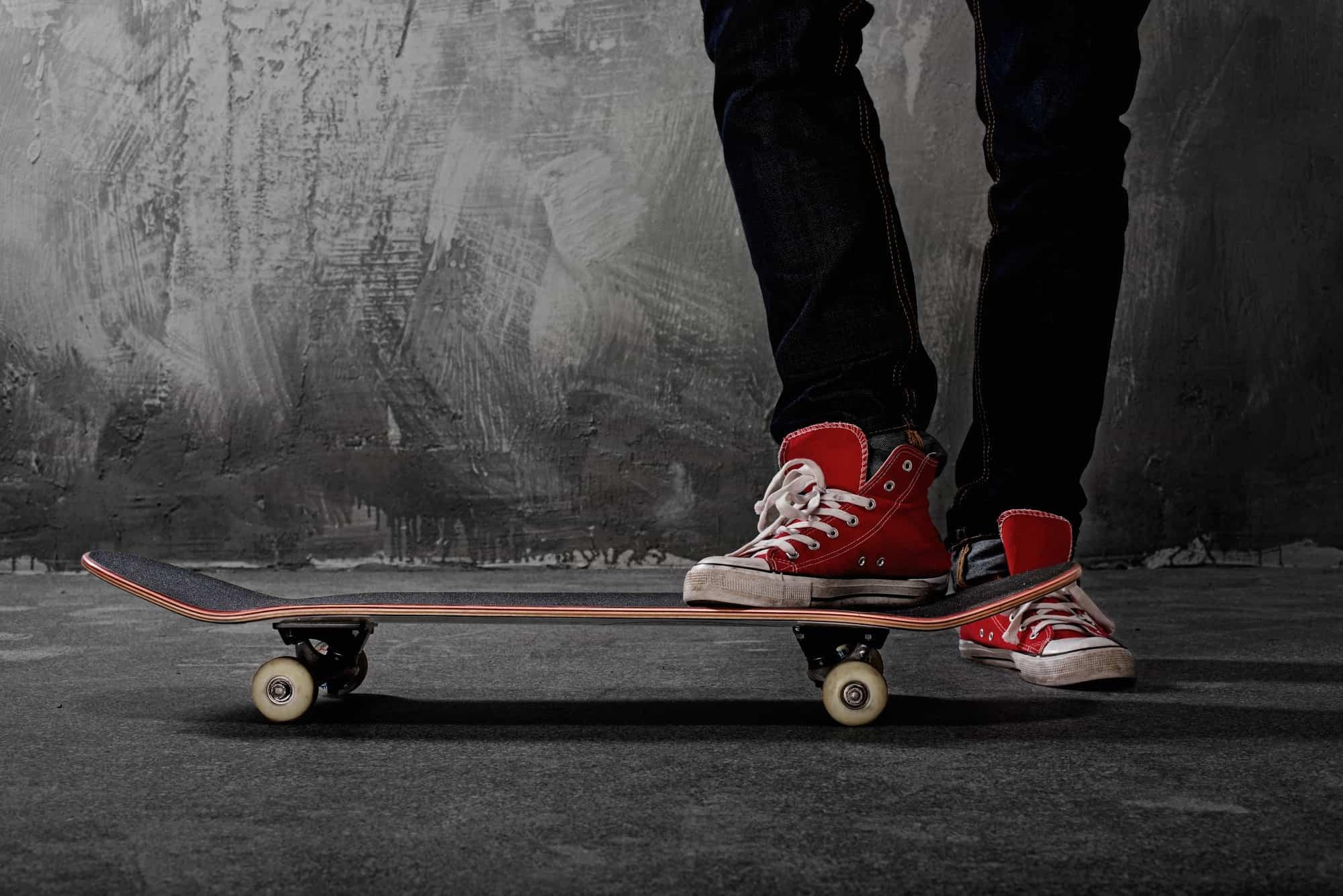 stop on a skateboard